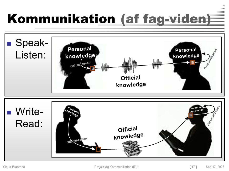 Kommunikation (af fag-viden)