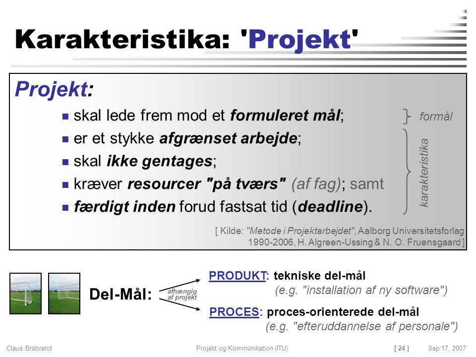 Karakteristika: Projekt