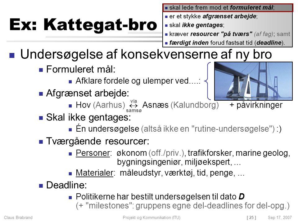 Ex: Kattegat-bro Undersøgelse af konsekvenserne af ny bro