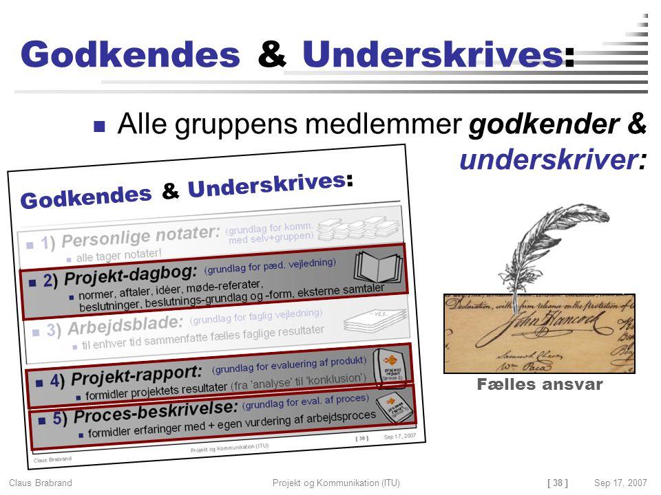 Godkendes & Underskrives: