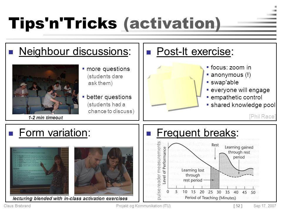 Tips n Tricks (activation)