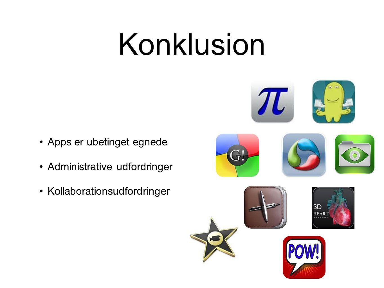 Konklusion Apps er ubetinget egnede Administrative udfordringer