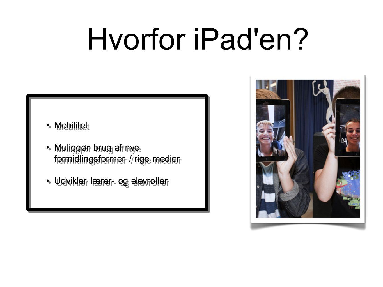 Hvorfor iPad en Mobilitet