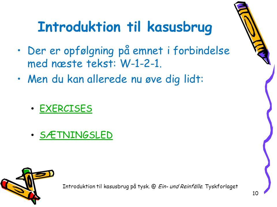 Introduktion til kasusbrug