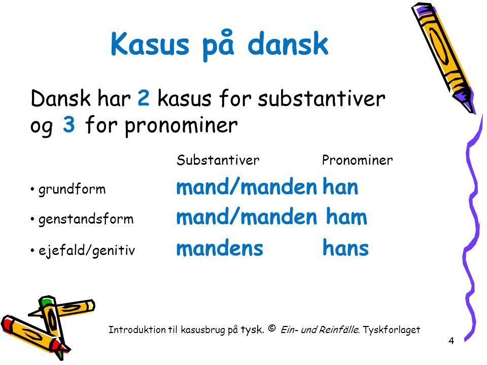 Introduktion til kasusbrug på tysk. © Ein- und Reinfälle. Tyskforlaget