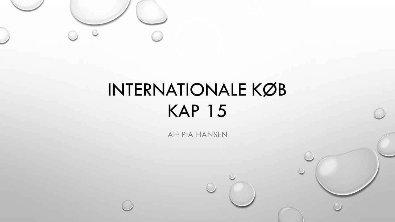 Internationale køb kap 15
