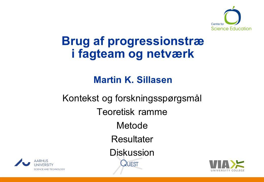 Brug af progressionstræ i fagteam og netværk Martin K. Sillasen