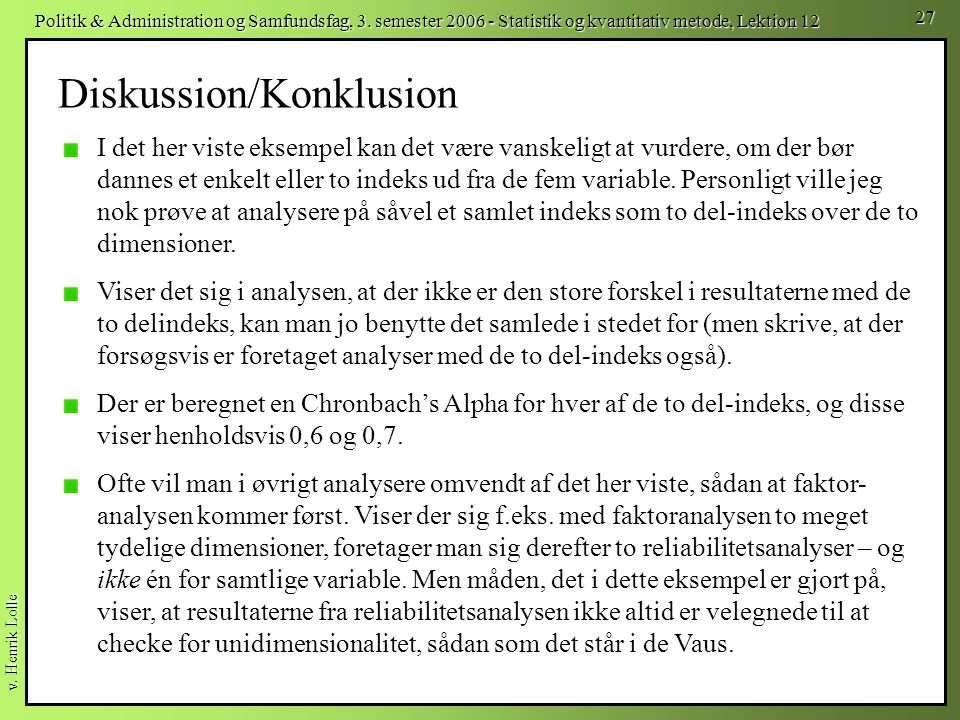 Diskussion/Konklusion