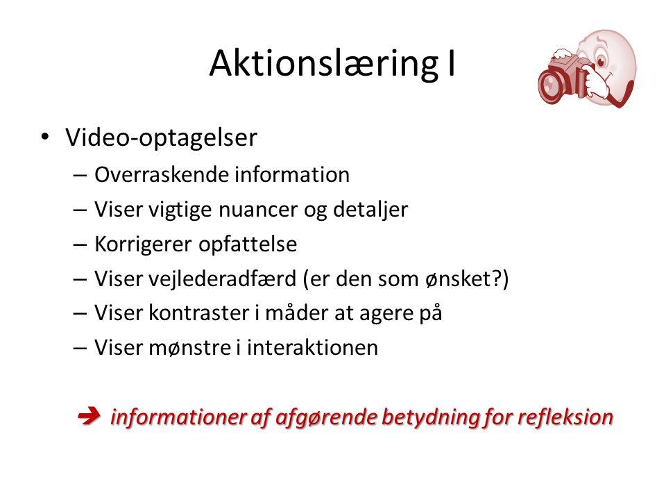 Aktionslæring I Video-optagelser Overraskende information