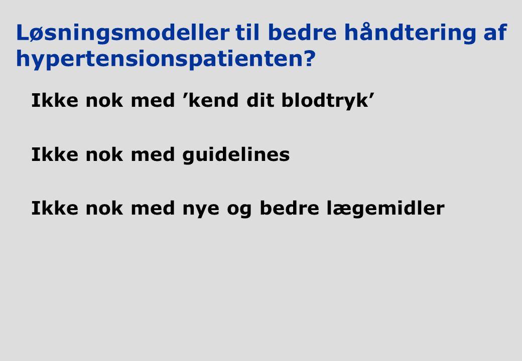 Løsningsmodeller til bedre håndtering af hypertensionspatienten