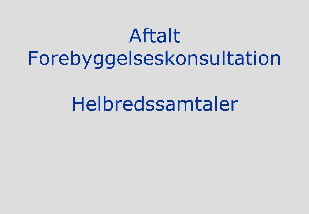 Aftalt Forebyggelseskonsultation Helbredssamtaler