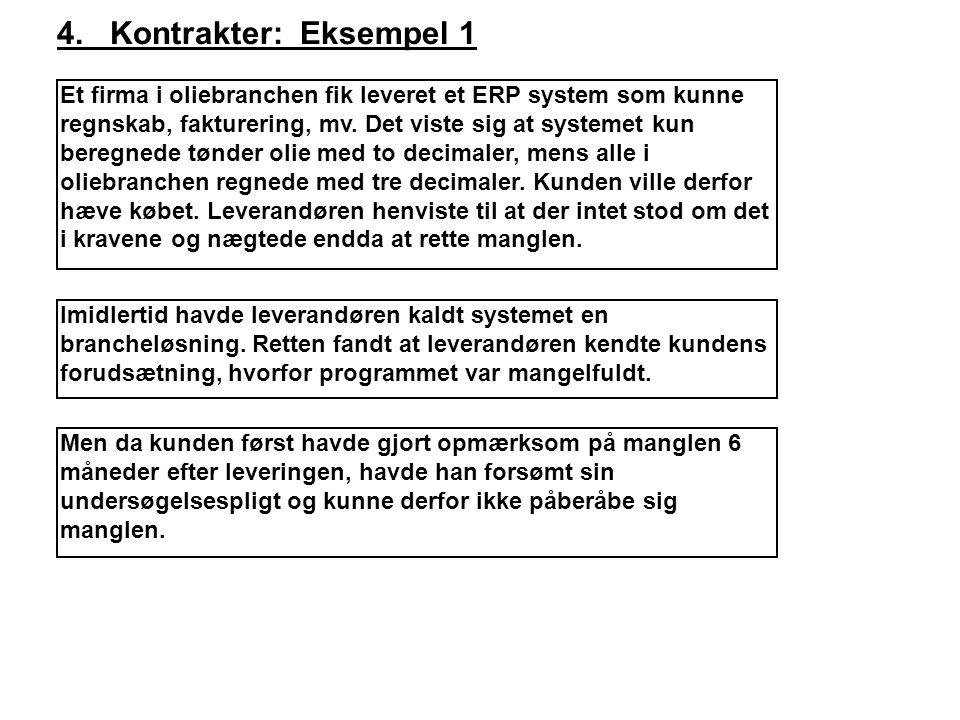 4. Kontrakter: Eksempel 1