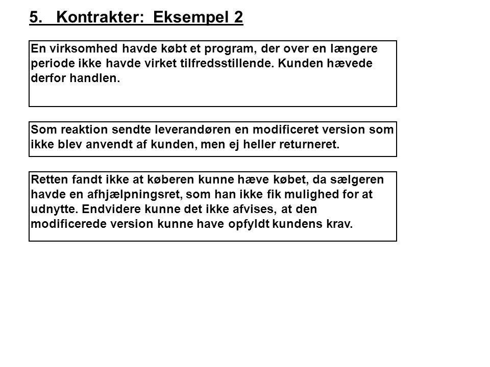 5. Kontrakter: Eksempel 2