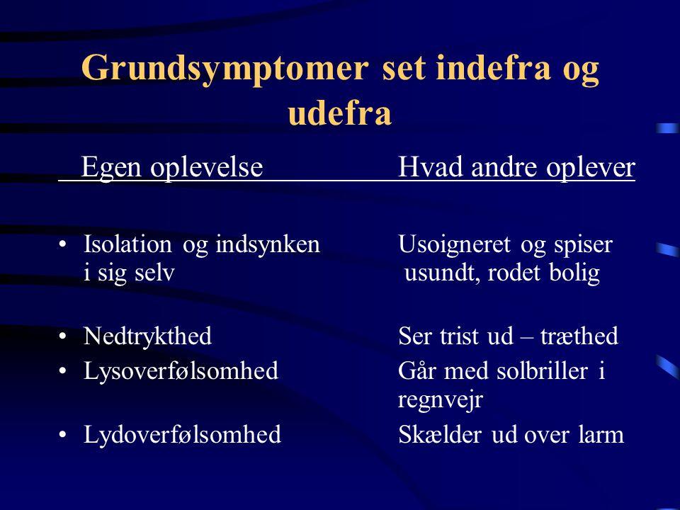 Grundsymptomer set indefra og udefra