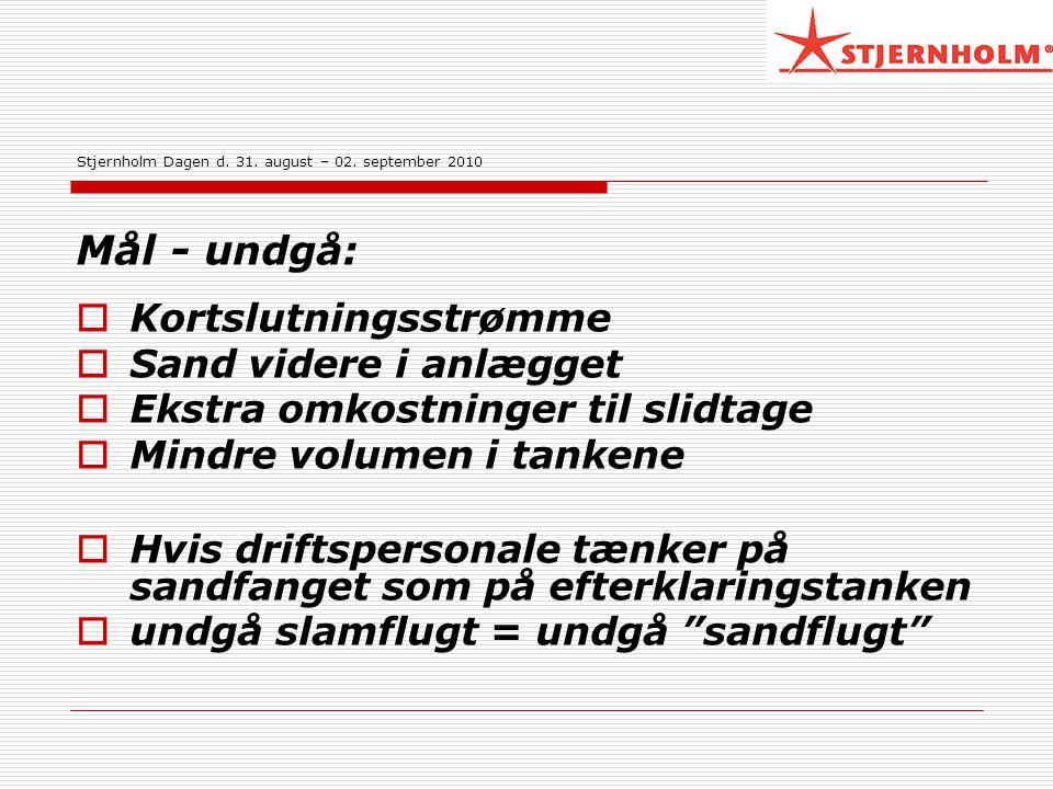 Stjernholm Dagen d. 31. august – 02. september 2010
