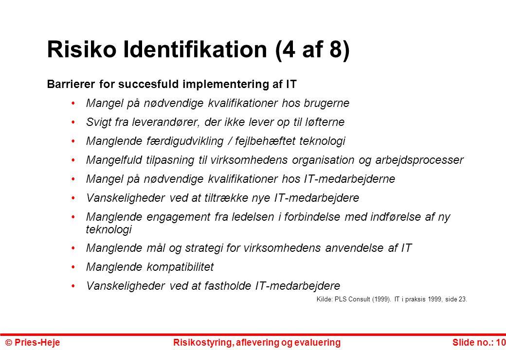 Risiko Identifikation (4 af 8)