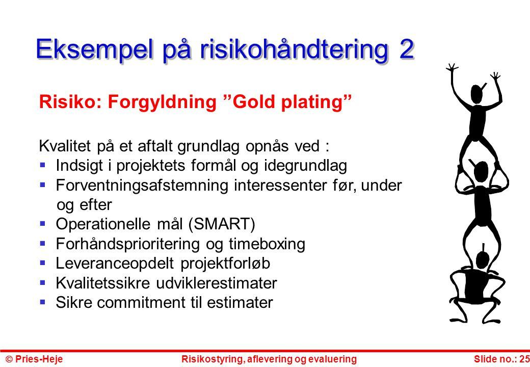 Eksempel på risikohåndtering 2