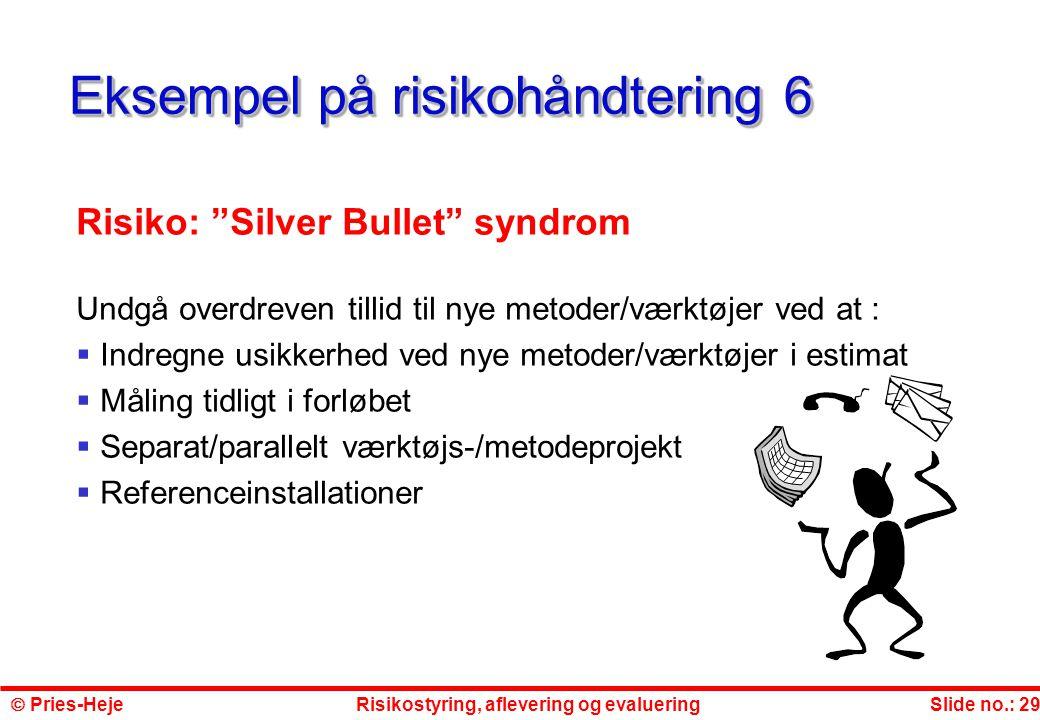 Eksempel på risikohåndtering 6