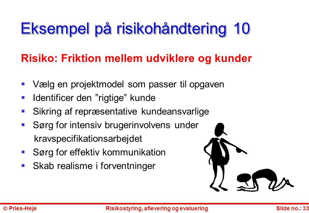 Eksempel på risikohåndtering 10