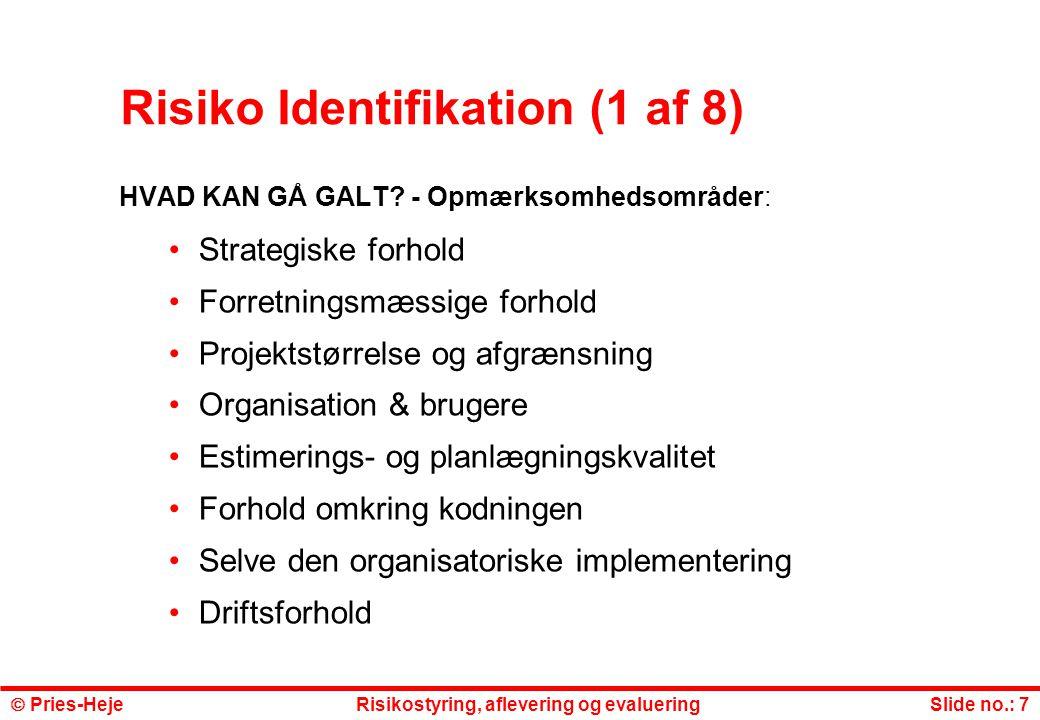 Risiko Identifikation (1 af 8)
