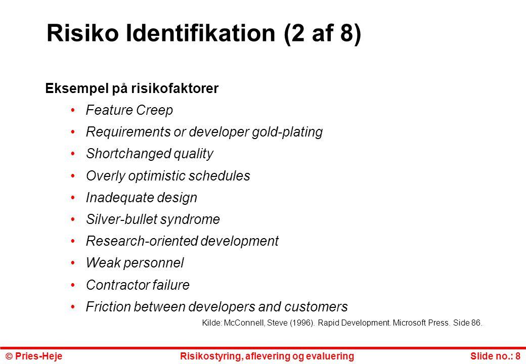 Risiko Identifikation (2 af 8)