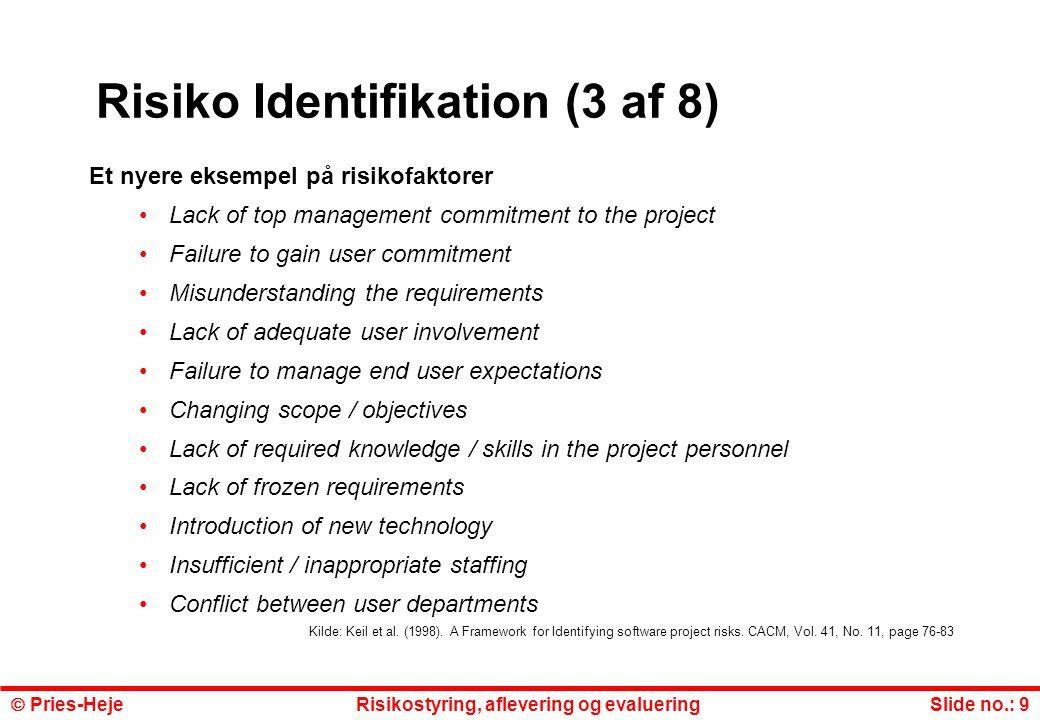 Risiko Identifikation (3 af 8)