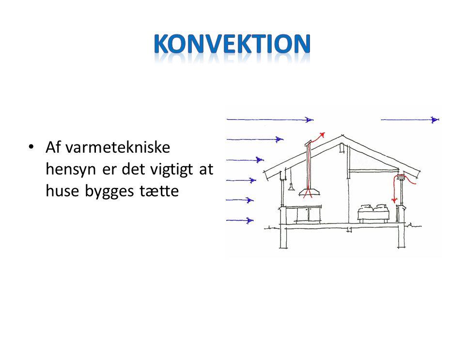 Konvektion Af varmetekniske hensyn er det vigtigt at huse bygges tætte