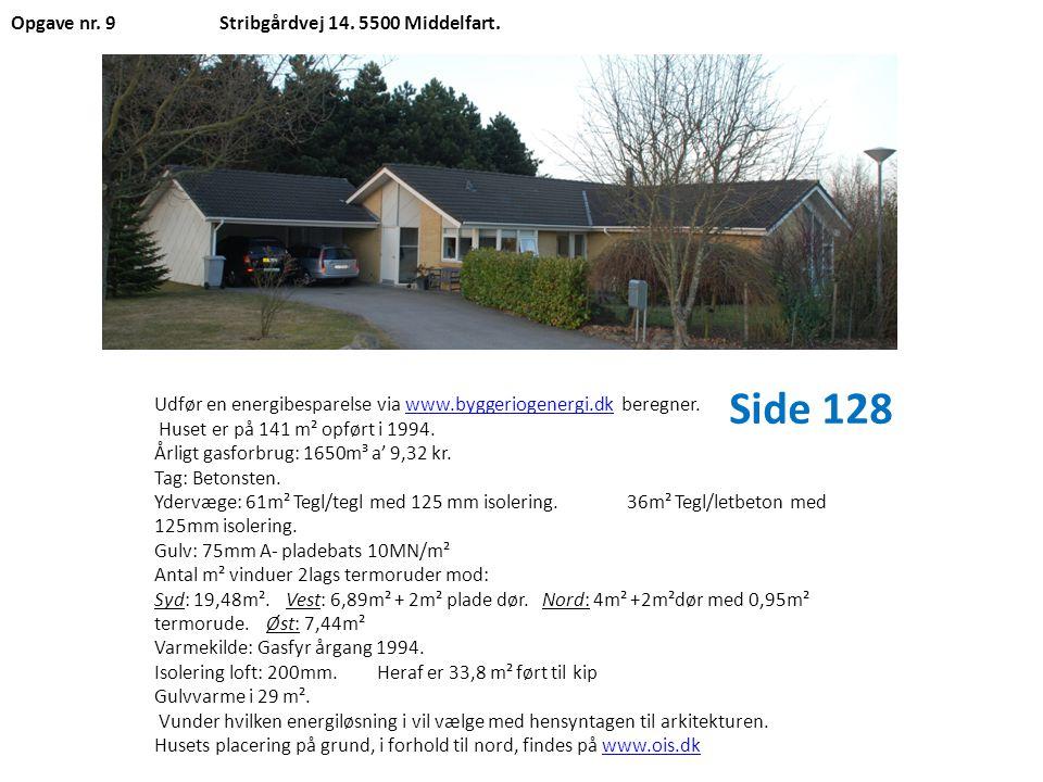 Side 128 Opgave nr. 9 Stribgårdvej 14. 5500 Middelfart.