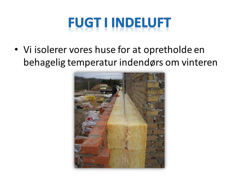 Fugt i indeluft Vi isolerer vores huse for at opretholde en behagelig temperatur indendørs om vinteren.