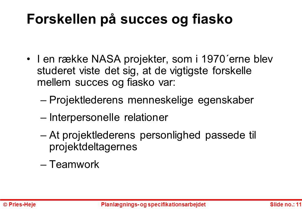 Forskellen på succes og fiasko