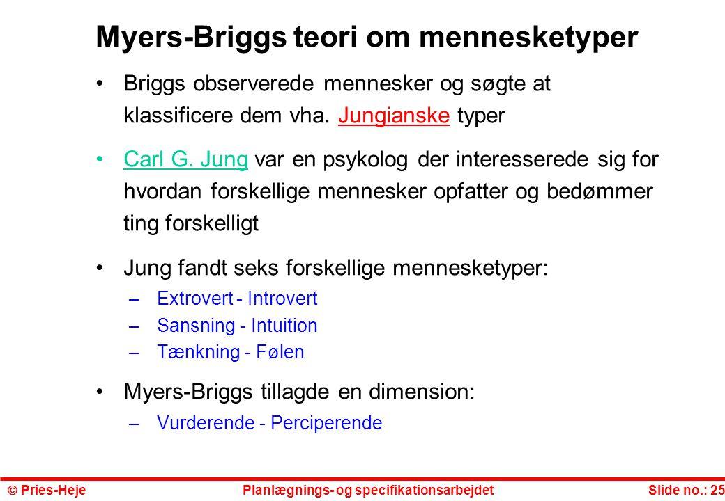 Myers-Briggs teori om mennesketyper