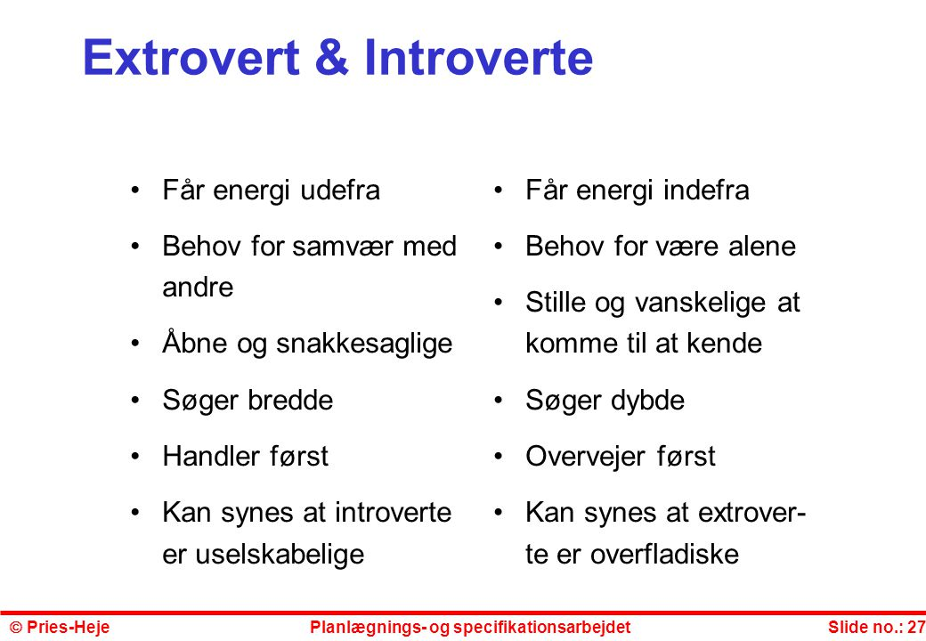 Extrovert & Introverte