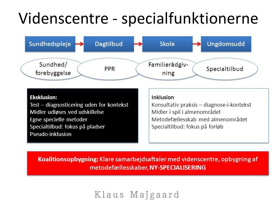 Videnscentre - specialfunktionerne