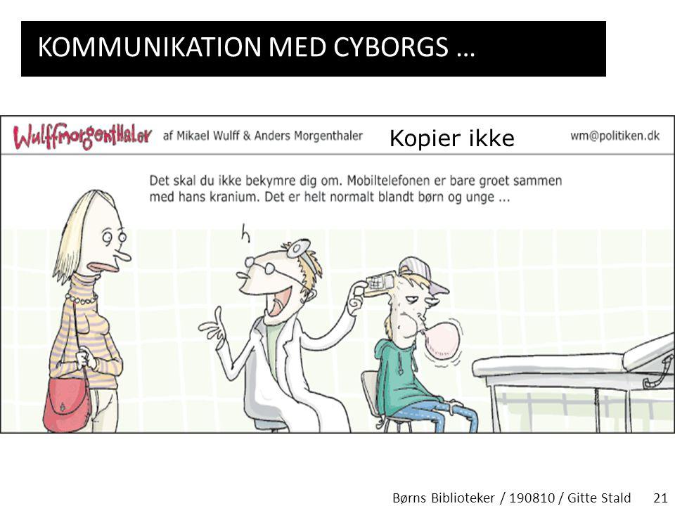 Kommunikation med cyborgs …
