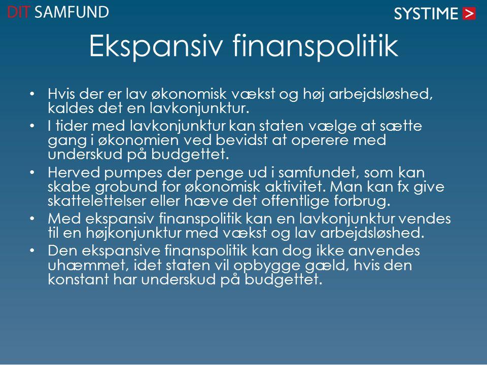 Ekspansiv finanspolitik