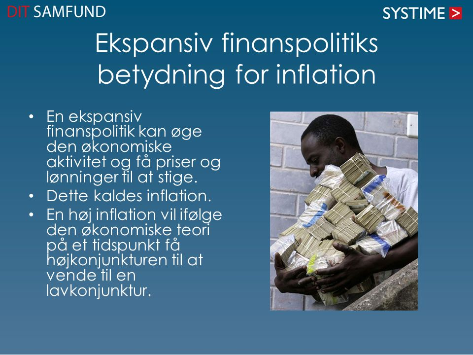 Ekspansiv finanspolitiks betydning for inflation