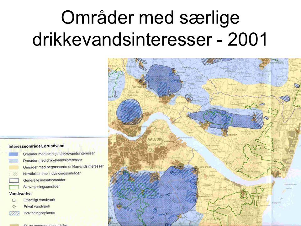 Områder med særlige drikkevandsinteresser - 2001