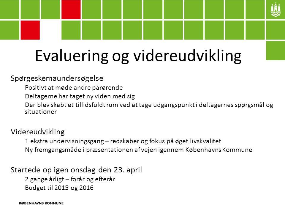 Evaluering og videreudvikling