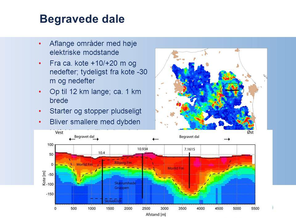 Begravede dale Aflange områder med høje elektriske modstande