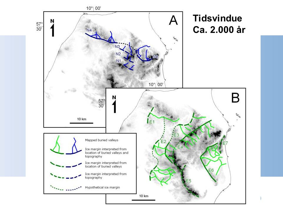 Begravede dale Tidsvindue Ca. 2.000 år