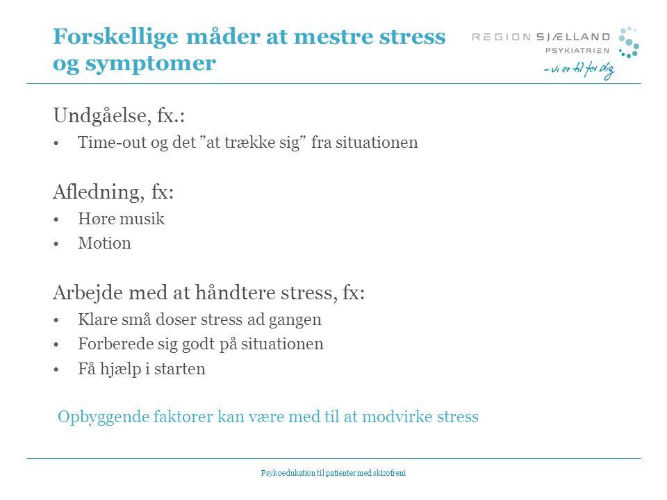 Forskellige måder at mestre stress og symptomer