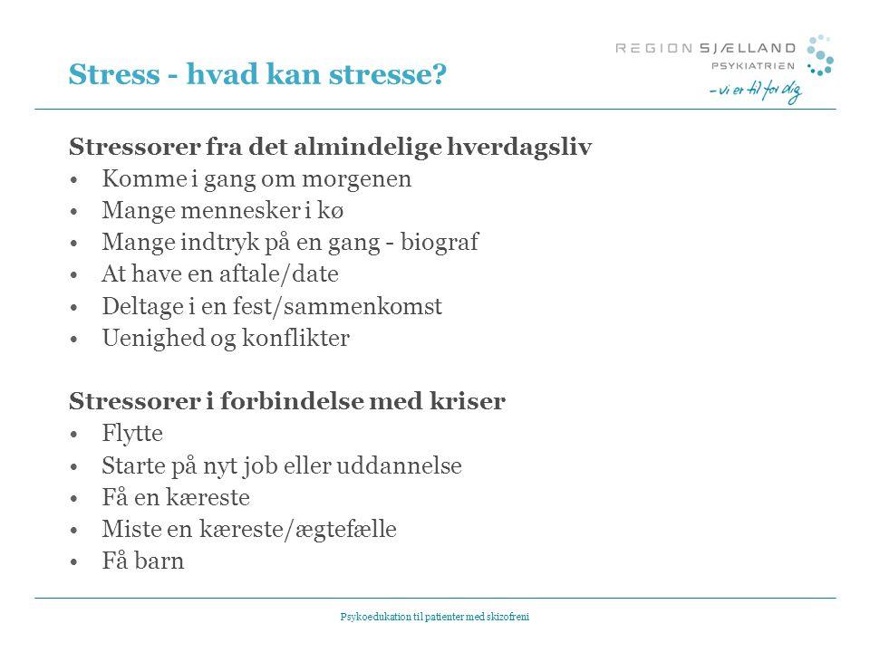 Stress - hvad kan stresse