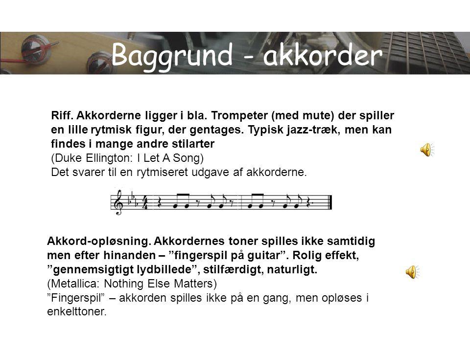 Baggrund - akkorder