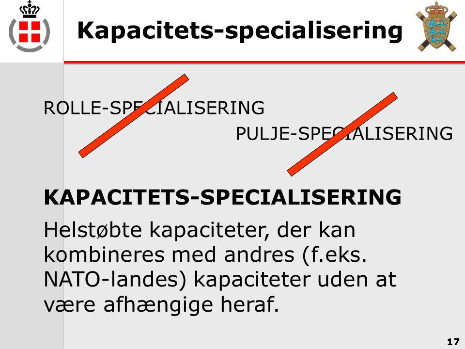 Kapacitets-specialisering