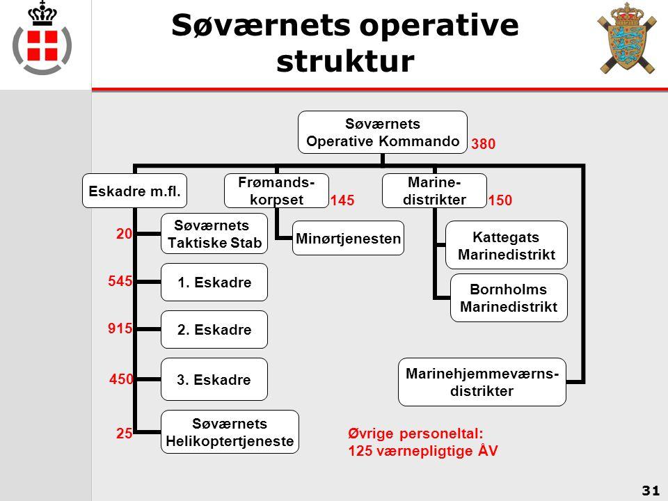 Søværnets operative struktur