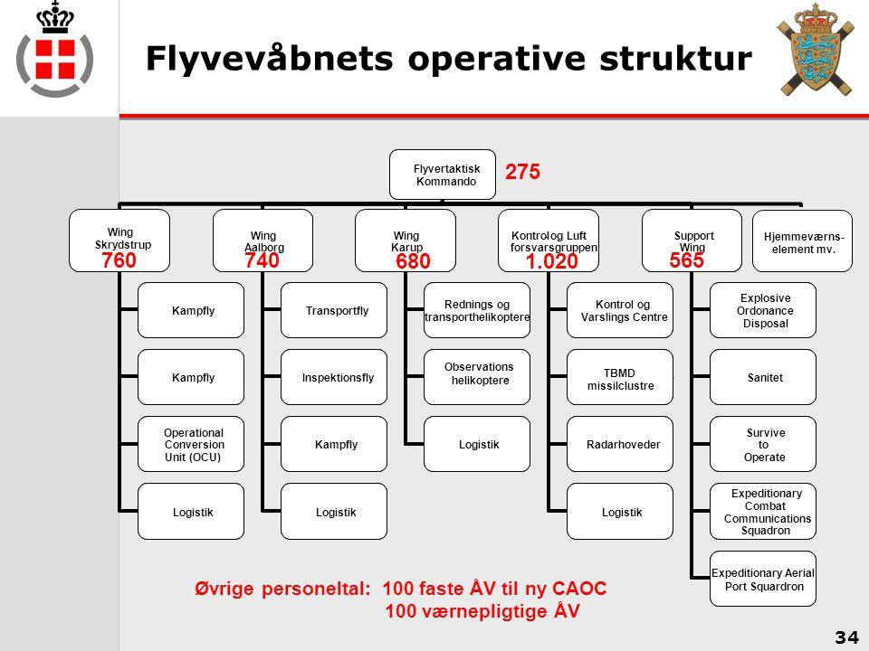 Flyvevåbnets operative struktur