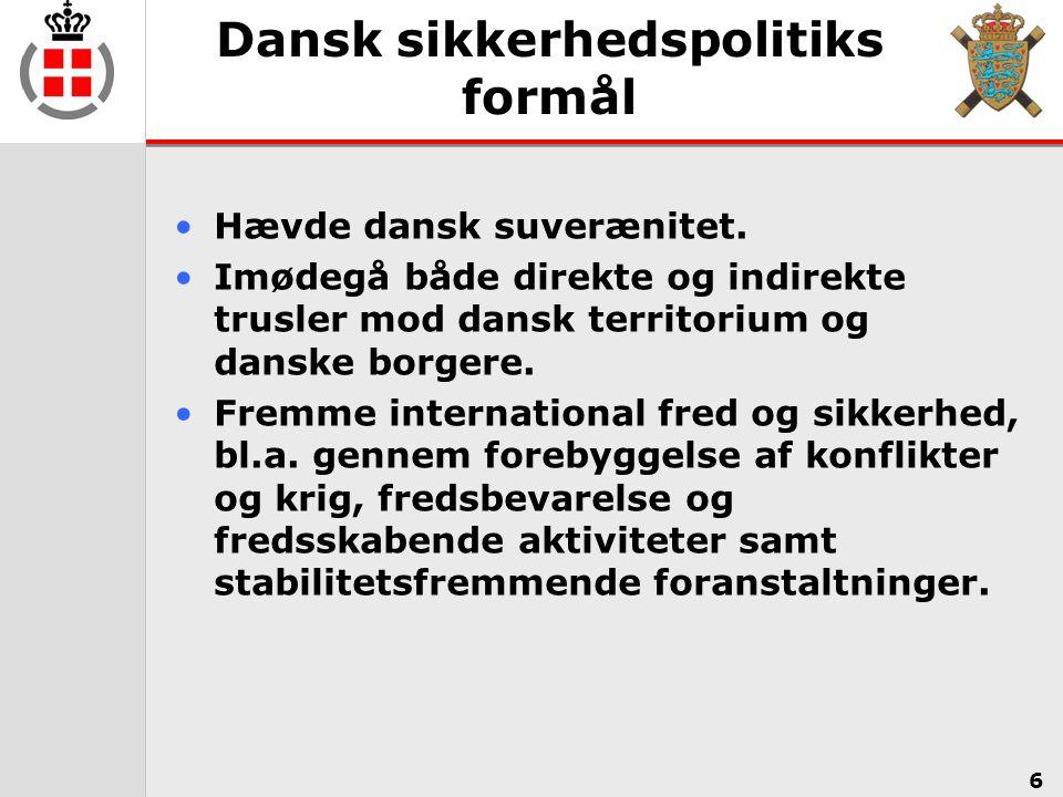 Dansk sikkerhedspolitiks formål
