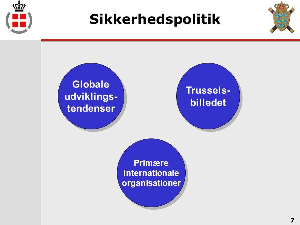 Sikkerhedspolitik Globale Trussels- udviklings- billedet tendenser