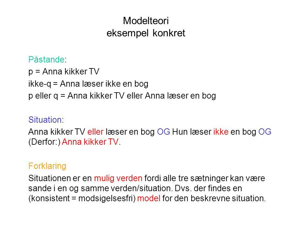 Modelteori eksempel konkret