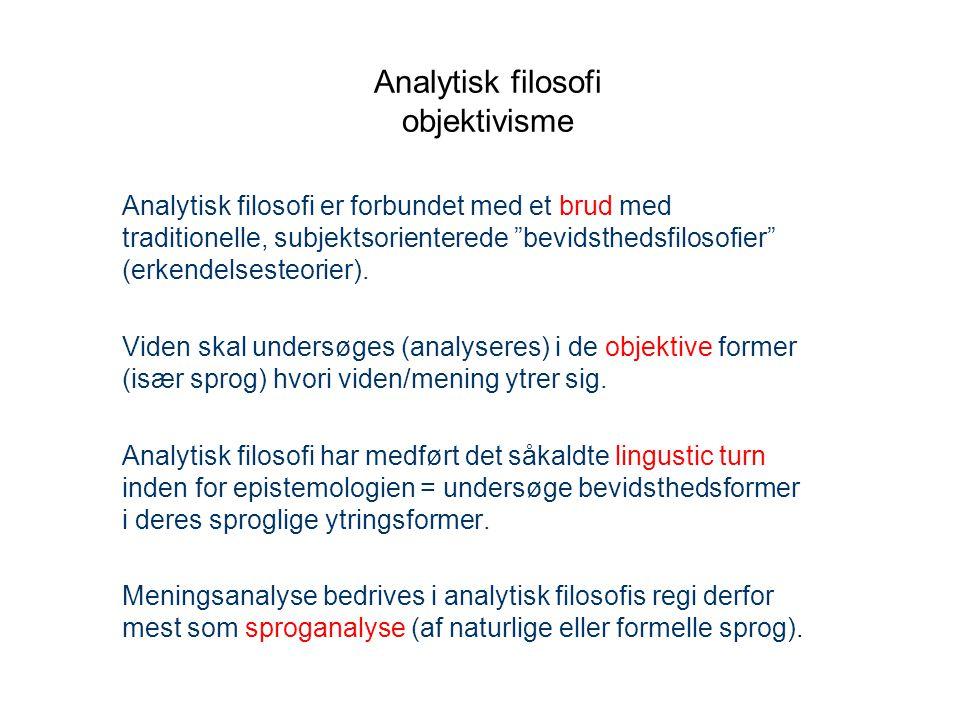 Analytisk filosofi objektivisme